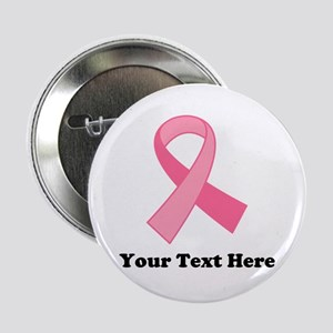 "Breast Cancer Ribbon 2.25"" Button (100 pack)"