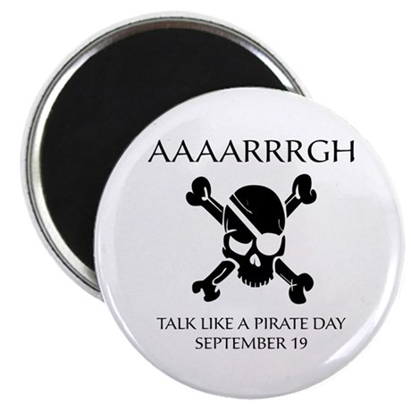 """Pirate Day 2.25"""" Magnet (10 pack)"""