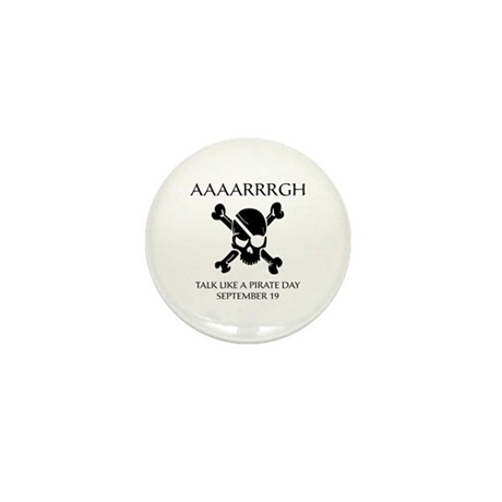 Pirate Day Mini Button