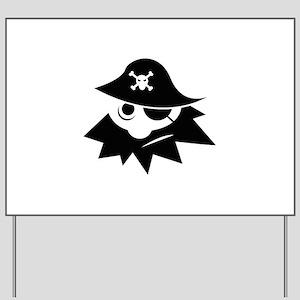 Pirate Yard Sign