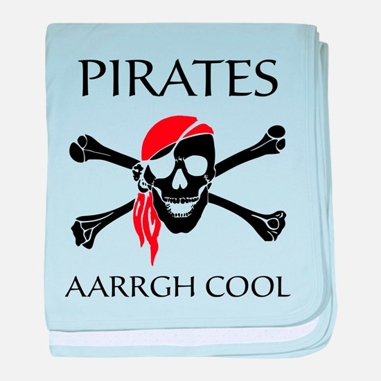 Pirates aarrgh cool baby blanket