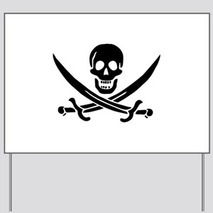 Pirate Skull Yard Sign