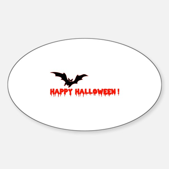Happy Halloween Sticker (Oval)