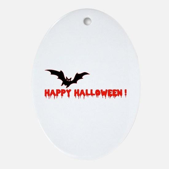 Happy Halloween Ornament (Oval)