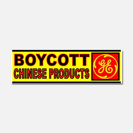 DON'T BUY GE PRODUCTS Car Magnet 10 x 3