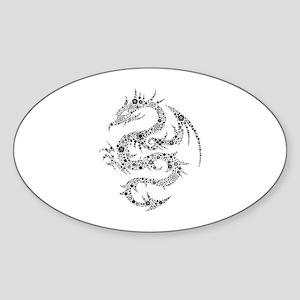 Dragon Sticker (Oval)