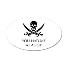 Pirate Ahoy 22x14 Oval Wall Peel