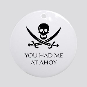 Pirate Ahoy Ornament (Round)