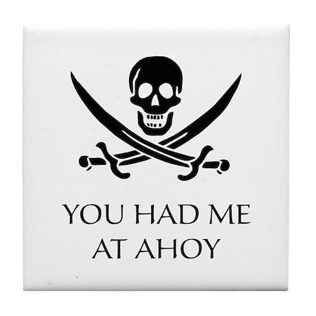 Pirate Ahoy Tile Coaster