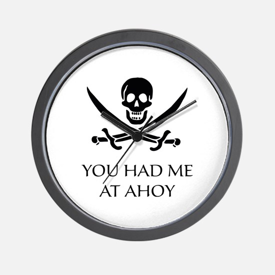Pirate Ahoy Wall Clock