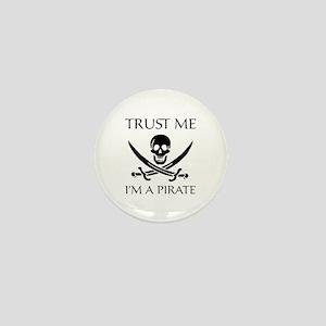 Trust Me I'm a Pirate Mini Button