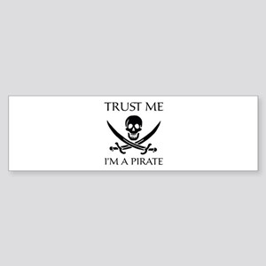 Trust Me I'm a Pirate Sticker (Bumper)