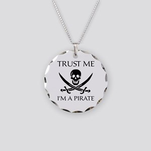 Trust Me I'm a Pirate Necklace Circle Charm