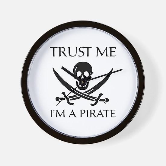 Trust Me I'm a Pirate Wall Clock