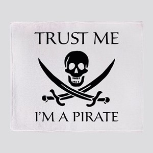 Trust Me I'm a Pirate Throw Blanket