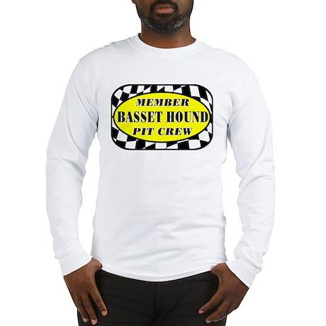 Basset Hound PIT CREW Long Sleeve T-Shirt