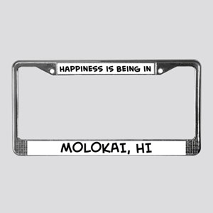 Happiness is Molokai License Plate Frame