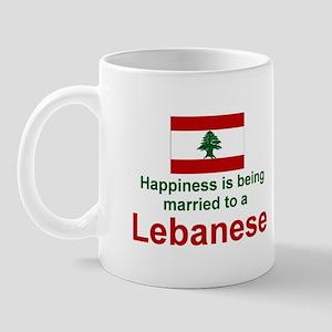 Happily Married To A Lebanese Mug