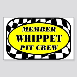 Whippet PIT CREW Sticker (Rectangle)