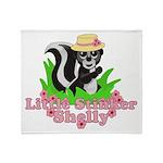 Little Stinker Shelly Throw Blanket