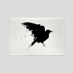 Grunge Bird Rectangle Magnet