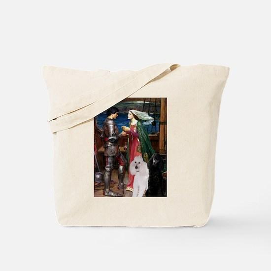 Tristan Poodle Pair (St) Tote Bag
