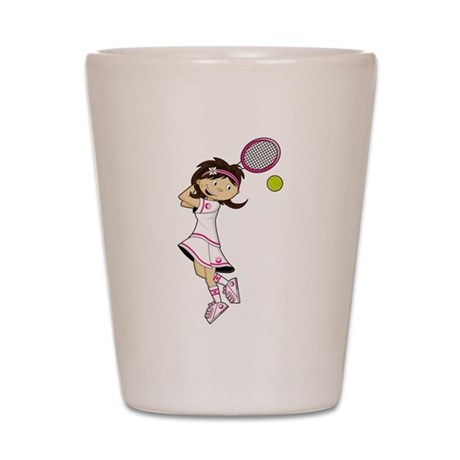 Cute Tennis Girl Shot Glass