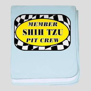 Shih Tzu PIT CREW baby blanket