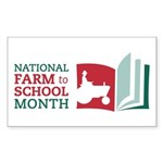 Farm to School Month stickers - 3x5