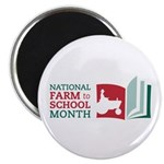"Farm To School Month - 2.25"" Magnet (10 Magne"