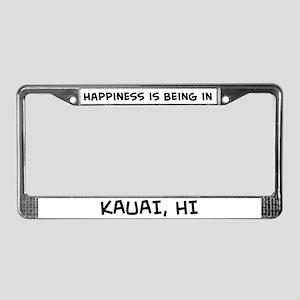 Happiness is Kauai License Plate Frame