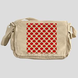 Red Tomato Pattern Messenger Bag