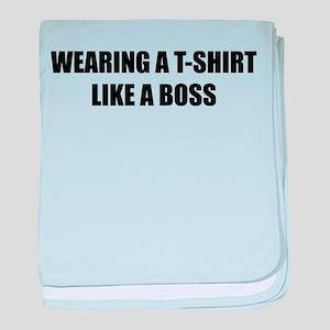 Wearing a T-shirt like a boss baby blanket