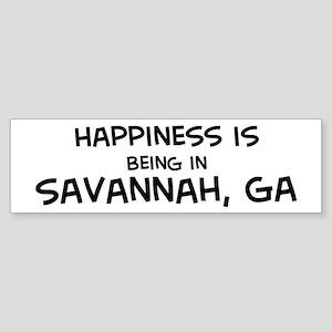Happiness is Savannah Bumper Sticker