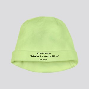 'My Golf Motto' baby hat