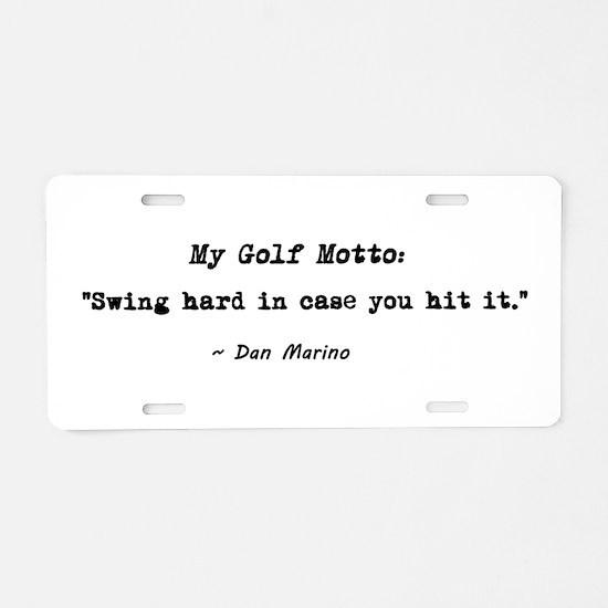 'My Golf Motto' Aluminum License Plate