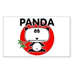 Panda Sticker (Rectangle 10 pk)