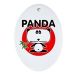 Panda Ornament (Oval)