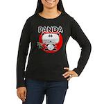Panda Women's Long Sleeve Dark T-Shirt