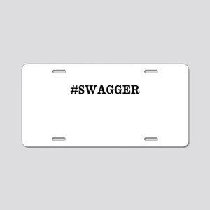 #Swagger Aluminum License Plate