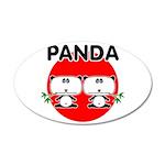Panda 2 38.5 x 24.5 Oval Wall Peel