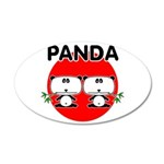Panda 2 22x14 Oval Wall Peel