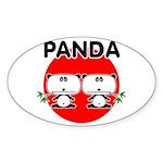 Panda 2 Sticker (Oval 10 pk)