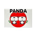 Panda 2 Rectangle Magnet (100 pack)