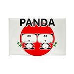 Panda 2 Rectangle Magnet (10 pack)