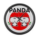 Panda 2 Large Wall Clock