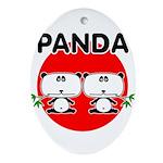 Panda 2 Ornament (Oval)