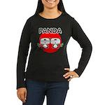 Panda 2 Women's Long Sleeve Dark T-Shirt