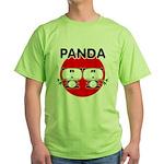 Panda 2 Green T-Shirt