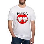 Panda 2 Fitted T-Shirt
